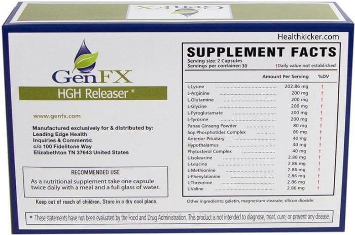 GenFX ingredients