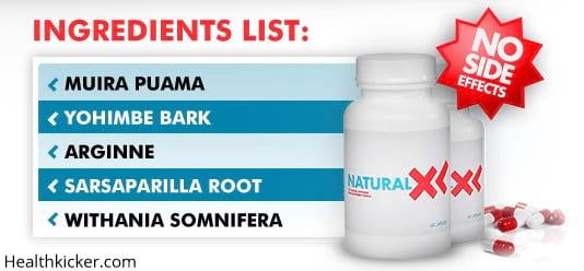 natural xl ingredients
